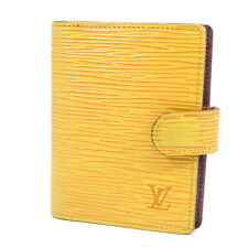 Auth Louis Vuitton Mini Agenda Epi Yellow Day Planner Cover R20079 Leather