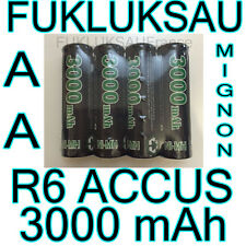 12 x PILES AA | PILES ACCUS RECHARGEABLE MIGNON 3000mAh Ni-MH 1,2V R6 LR06 NEW