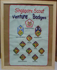 SINGAPORE President Scout Highest Rank Award & Venture Scout Section Patch SET