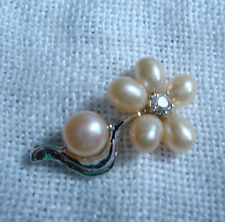 NATURAL PEARL PENDANT WHITE GOLD FILLED/ROLLED