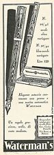 W2066 Waterman's Fountain Pen - Pubblicità del 1929 - Vintage advertising