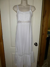 BEAUTIFUL VICTORIA'S SECRET LONG White Country Lace Islet Gown Sz X Small