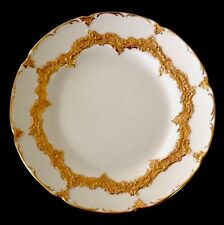 MEISSEN GERMANY HEAVY GOLD GILT DECORATION LUNCH DESSERT SALAD PLATE EXCELLENT