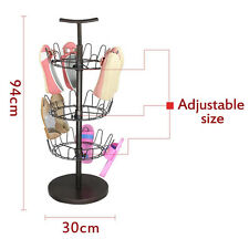 US Upright Revolving Shoe Organizer Tree Stand Footwear Holder Rack Storage NEW