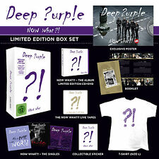 DEEP PURPLE COFANETTO NOW WHAT 5 CD 1 DVD T-SHIRT BOX RSD RECORD STORE DAY 2015