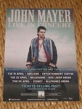 JOHN MAYER  -  2014  AUSTRALIAN  TOUR  -  PROMO TOUR POSTER