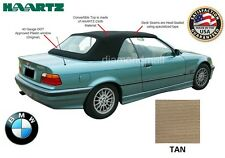 BMW E36 3-Series Convertible Soft Top 1994-1999 TAN Stayfast & Plastic window