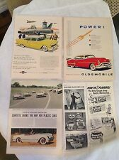 18 Vintage Full-Page Car Ads. Cadillac, Corvette, Chevy, Buick, etc. Free Ship!