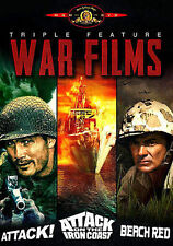 Attack/Attack on the Iron Coast/Beach Red (DVD, 2014) 3 WAR FILMS, LEE MARVIN