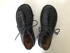 Trippen Todi Black Leather Lace-Up Shoes - Euro 40 / US 10