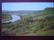 POSTCARD PERTHSHIRE PERTH - THE VALLEY OF THE TAY FROM ABOVE KINFAUNS CASTLE