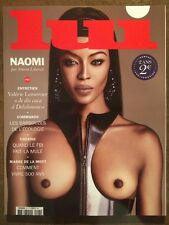 Magazine LUI 21 French Naomi Campbell Oct 2015 Mode Charme Érotisme