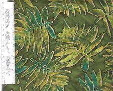 Origins 084-93  100% Cotton Quilt Fabric priced by 1/2 yd Green leaves