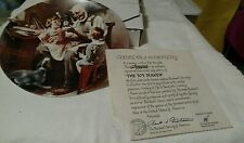 """Norman Rockwell """"The Toy Maker Plate"""" w/ Certificate and Original Box Mint cond."""