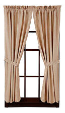 New Primitive Country Homespun Red Striped Ticking Curtain Drapes Panels 84""