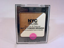 T) NYC SMOOTH & NATURAL MATTE POWDER BRONZER #0151 08 GOLDEN GLOW