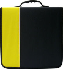 (1) CRY-E360YE 360 Disc Capacity Black & Yellow CD DVD Binder Storage Media 350