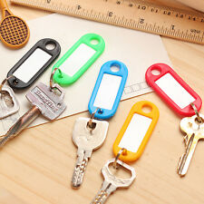 10 x Anti-Lost Plastic Key Ring Marking ID Tag Luggage Name Card Label Random