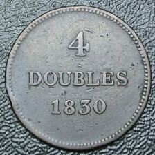 1830 GUERNESEY BRITISH - 4 DOUBLES - COPPER - Nice