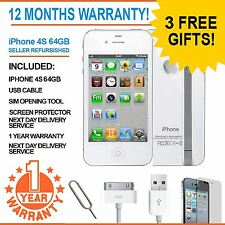 Apple iPhone 4S 64GB - White - Factory Unlocked - Good Condition