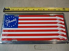 "FENDER ""American Flag"" LICENSE PLATE. guitar bass case amp acoustic. NEW"
