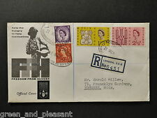 SG634 freedom from hunger 21/3/1963 Throgmorton avenue puissance inscrit ord fdc