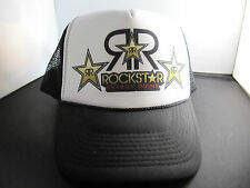 New Rockstar Energy Drink Trucker Hat Cap Adjustable Snapback Old School Look