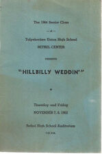 1963  HILLBILLY WEDDIN' Tulpehocken Union High School (PA) Program w/vintage ads