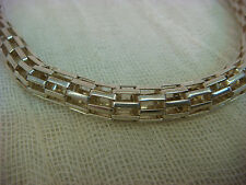 PUFFED STERLING SILVER WEAVE LINK TUBE SNAKE NECKLACE MARKED ST THAILAND TOGGLE