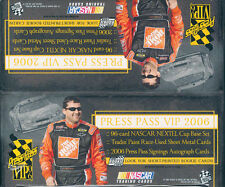 2006 PRESS PASS VIP RACING RETAIL BOX BLOWOUT CARDS