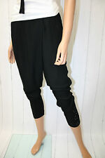 Cream Hose Hale Pants Gr 38 Pitch Black Boyfriend Baggy  Neu