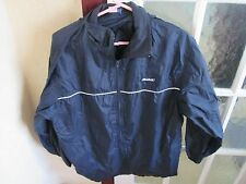 REEBOK MENS NYLON HOODED ZIPPED JACKET LARGE CHEST 42 INCHES  NAVY BLUE