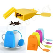 Silicone Reuseable Tea Strainer Herbal Spice Infuser Filter Diffuser Kitchen HOT