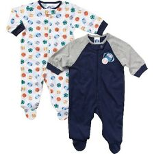 Gerber Baby Boys 2-Pack Sleep 'N Plays Zip Front Sports Size 0-3mos