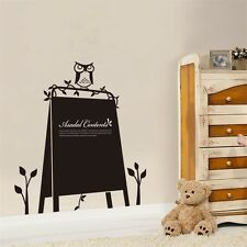 Kids Chalkboard Sticker Home To Do List Writing Message Board Owl Design DIY