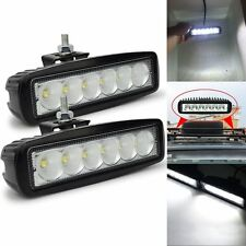 "2 x 18W 6"" FLOOD Cree Led Bar Work Light Boat Car Truck Lamp SUV UTE ATV offroad"