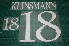 Germany 96/98 #18 KLINSMANN Awaykit Nameset Printing