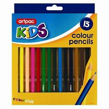 SET OF 15 COLORING PENCILS ART CRAFTS KIDS SCHOOL ASSORTED COLORS CHEAP PRICE