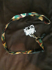 "Military Camo Camouflage 15"" lanyard for ID Holder and Mobile Device-New w/Tags"