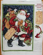Merry Christmas Santa Door Panel by Springs Creative btp