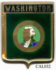 CAL033 - PLAQUE DE CALANDRE AUTO - WASHINGTON