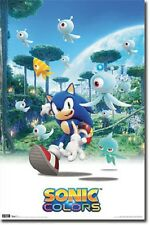 NINTENDO PS3 SONIC THE HEDGEHOG COLORS 22x34 NEW VIDEO GAME POSTER FREE SHIPPING