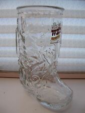 Bally's WILD WILD WEST Casino ~ Glass Boot Mug - Atlantic City - Includes Box!