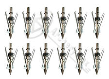 "12PK New Archery Official Hypodermic Broadheads 2 Blade 100 Grain 2.3"" Cut"