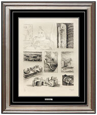 HENRY MOORE Etching HAND SIGNED Authentic Art Ideas For Bronze Sculpture Print