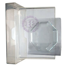 Eyelash Extensions ☆ Crystal Glass Stone Glue Holder Pallet 3pcs Kit ☆ Polygon ☆