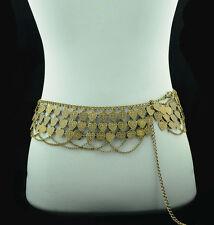 Hippie Beautiful Gypsy Bronze Metal Heart Multilayer Belly dance belt Chain/body