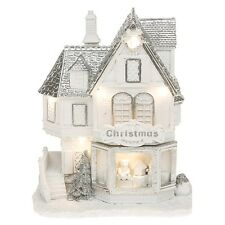 Christmas Festive Frosted Snow LED Toy Shop Xmas Decoration