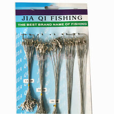 Hard 100 X Steel Small New Fishing Trace Lure Leader Wire Spinner 16/18/22/24/28