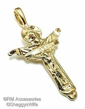 Risen Lord Jesus Cross Pendant  EP 24k Gold Plated with a Lifetime Guarantee